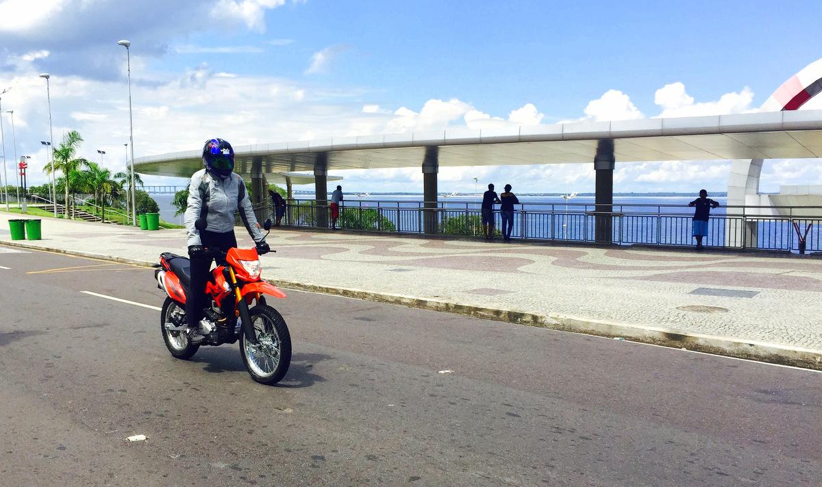 Eliana Malizia em Teste na Orla da Ponta Negra, Manaus