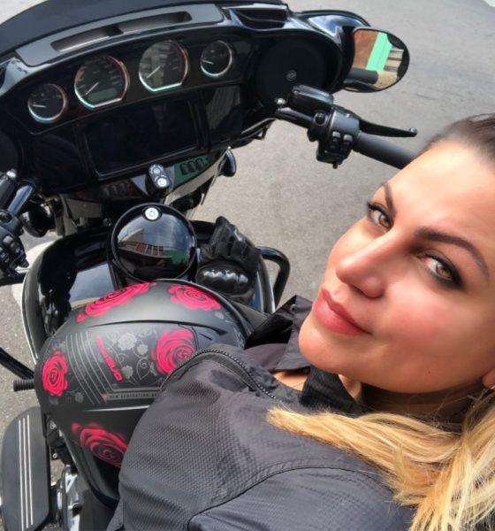 eliana malizia mulher motociclista, moto custom